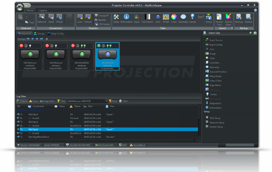 Projector Control Software
