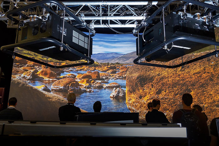 INSIGHT 4K Projectors on the AV Stumpfl booth at ISE