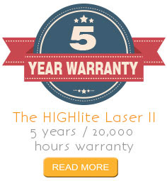 HIGHlite Laser projector 5 year warranty