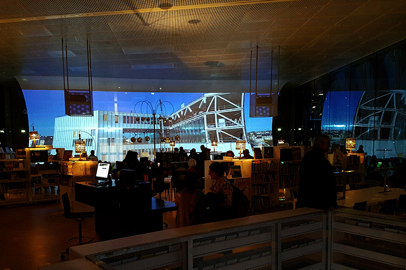 HIGHlite Lasers at Alexis de Tocqueville library in Caen