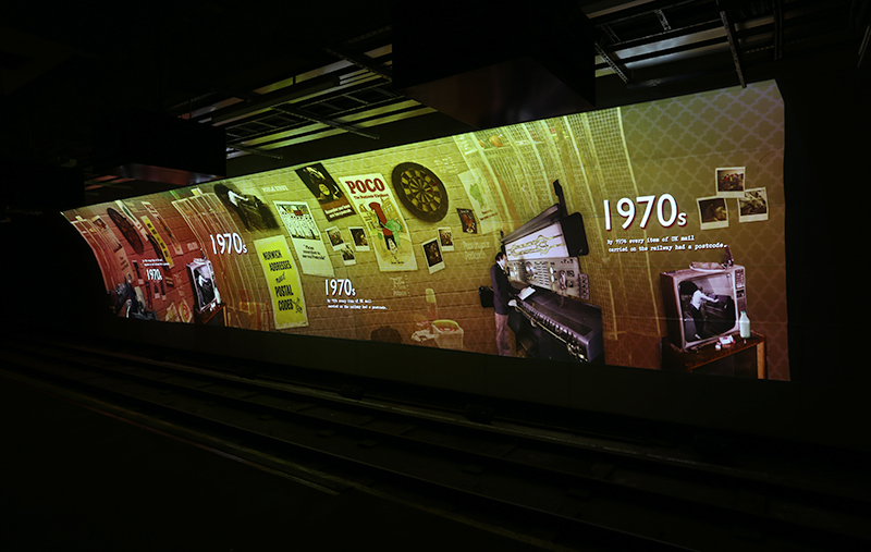 Digital Projection Mail Rail Postal Museum