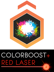 ColourBoost + Red Laser Projector
