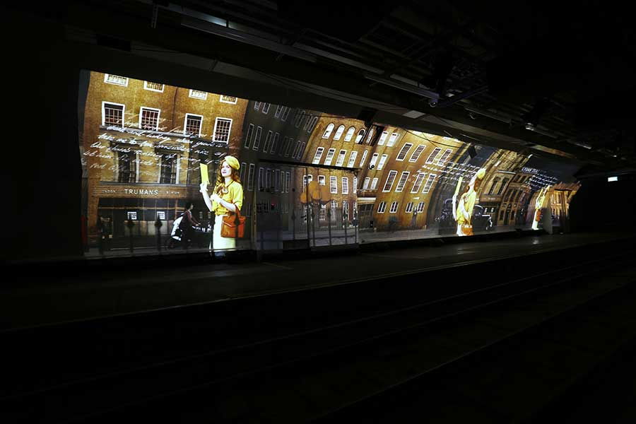 Digital Projection at Mail Rail