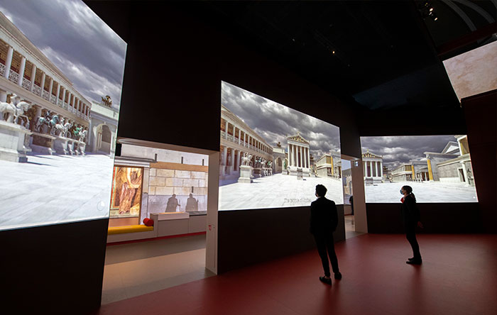 Digital Projection at Pompeii Exhibition