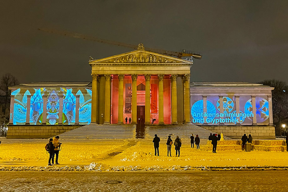 Kunstareal projection mapping